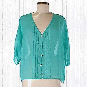 Tini Lili - Aqua button up top